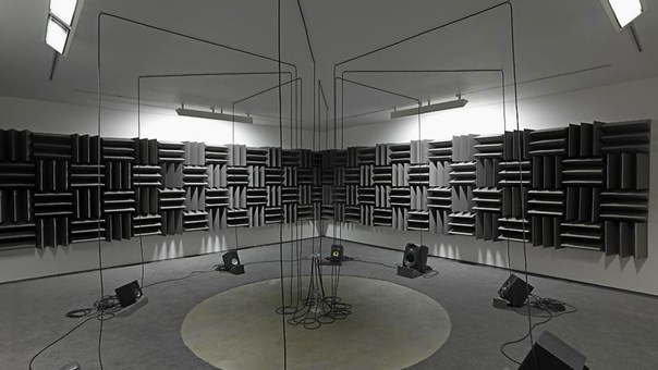 In a room, the gift of sound and vision