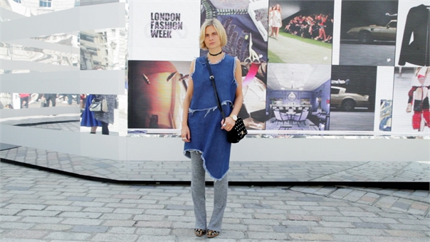 The Sunday Times Style fashion editor working double denim