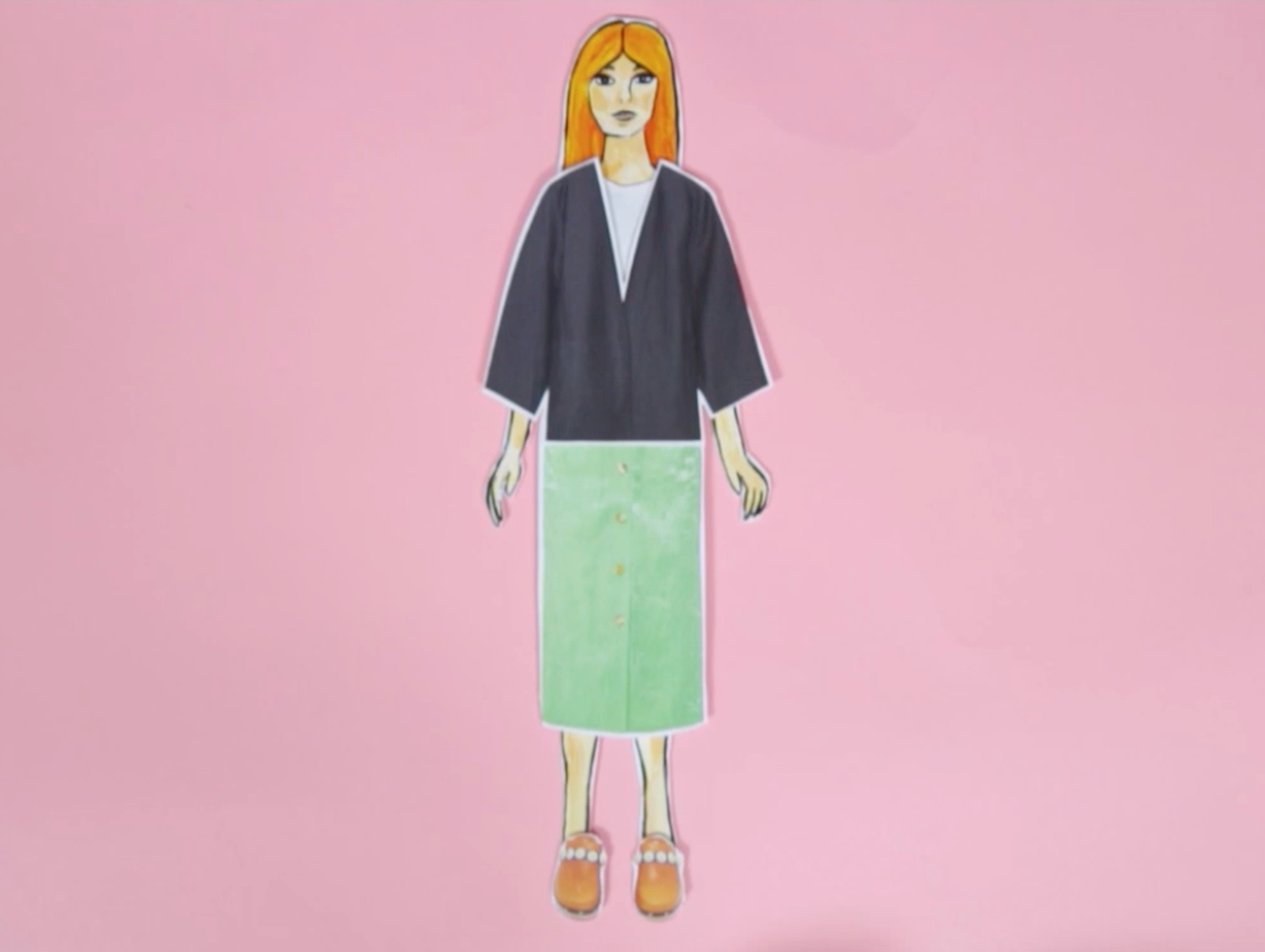 Animated Skirt because magazine - how to wear a silk midi skirt